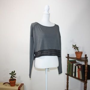 NWT! [Lole] anada crop long sleeve top